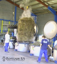 Traditional distillation: harvest coming out of a vat - (Photo : Bontoux SA)